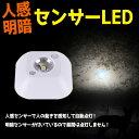 人感 明暗 センサー搭載 LEDライト 昼白色 小型 自動点