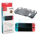 OIVO Nintendo Switch専用 TPUソフトケース+保護フィルムセット グレー 耐衝撃ケース 装着したまま操作可 高透過率フィルム タッチ操作対応OIVOWS36