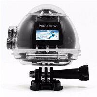 360度撮影モード 220度超広角レンズ 4Kアクションカメラ パノラマ 2448P 30FPS Wifi搭載 30m防水 自転車 スキー サーフィン ダイビングなど 空撮 8種類モード LP-ACV1