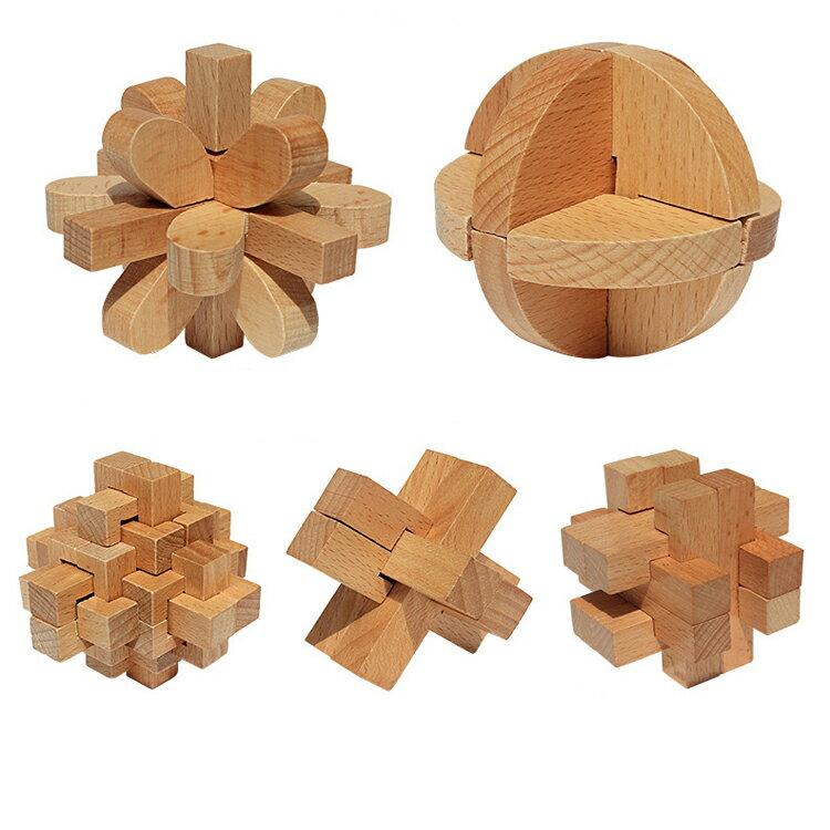 孔明鎖孔明パズル知恵教育教育玩具脳トレ高齢者のボケ防止に大人も子供も幅広く木製立体パズルギフト木製パ