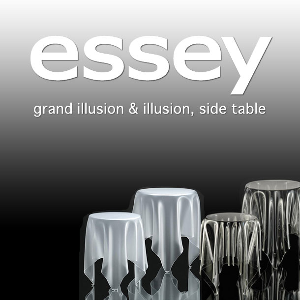 essay table illusion Find the illusion side table and the grand illusion designed by john brauer for the manufacturer essey in the home design shop.