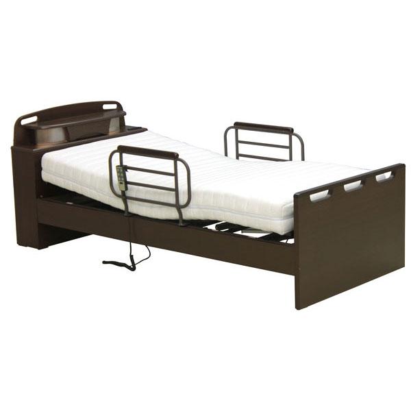 組み立てします 送料無料電動ベッド 2モーター シングル 宮付 照明付電動リクライニングベッド HMFB-8812開梱設置 2ータータイプのスパーハイバック電動ベッド