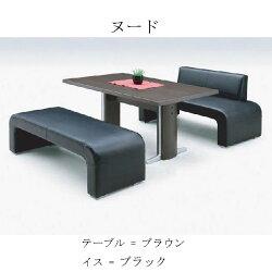 ヌード-テーブル-ブラウン・イス-ブラック
