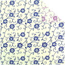 大風呂敷 瑠璃色鉄線(105cm)ふろしき大判風呂敷 【ふろしきや】【メール便OK】【楽ギフ_のし宛書】