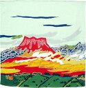 ショッピング風呂 小風呂敷・正絹 天平雲に富士・片岡珠子(45cm)