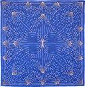 大風呂敷 Lotus・ブルー(90cm)ふろしき大判風呂敷【楽ギフ_のし宛書】