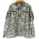 ショッピングデジタル 【古着】 U.S ARMY BDUジャケット リップストップ デジタルカモ カモフラ柄 オリーブ系 メンズL n011123
