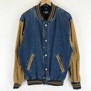 【古着】 Dunbrooke デニムスタジャン デニム×コットン 裏地付き 内ポケットあり ブルー系 メンズS n012818
