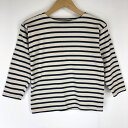 SAINT JAMES セントジェームス マリンボーダーTシャツ バスクシャツ 80-90年代 半端袖 ホワイト系 レディースXS