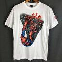 ショッピングタープ 【古着】 キャラクタープリントTシャツ スパイダーマン ホワイト系 メンズM 【中古】 n019870