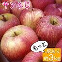 サンふじ 等級C (加工用) 3kg 9〜15玉/送料無料 葉とらず 味極み りんご 減農薬 長野県産 産地直送