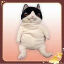 【もちねこ】 ぬいぐるみ L ハチワレ (猫/ネコ/シナダグローバル) 宅配便配送(メール便とネコポスは不可)