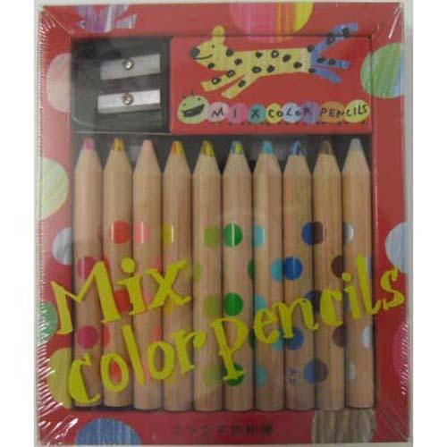 ミックス色鉛筆10本セット(コクヨえほんシリーズ...の商品画像