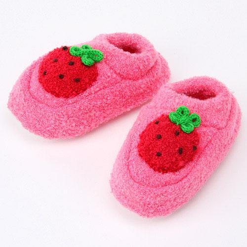 レザンファンキッズ・ベビーブーティー(子供用)イチゴ濃いピンク(サーモンピンク/いちご)メール便も可