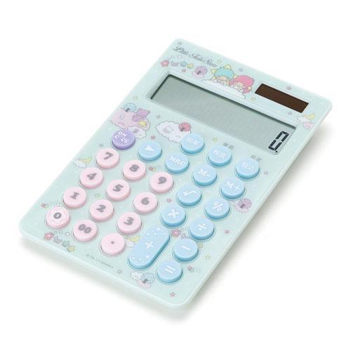【サンリオ】リトルツインスターズ キキララ 電卓 チラシ(税計算機能付き/太陽電池/ボタン電池)【ネコポスも可能】