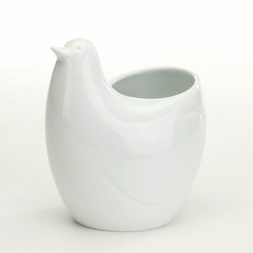 白山陶器 とり型 フリースタンド POPP ポッポ 白磁[宅配便配送(メール便とネコポスは不可)]