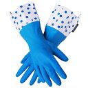 特別価格【2品までメール便OK/即日発送可/ラッピング無料】GLOVEABLES GLOVEグローバブルズ ゴム手袋 ブルー×ドット