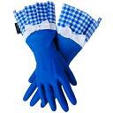 特別価格【2品までメール便OK/即日発送可/ラッピング無料】GLOVEABLES GLOVEグローバブルズ ゴム手袋 ブルー×ギンガムリボン