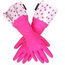 特別価格【2品までメール便OK/ラッピング無料】GLOVEABLES GLOVEグローバブルズ ゴム手袋 ピンク×ドット