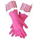 特別価格【2品までメール便OK/ラッピング無料】GLOVEABLES GLOVEグローバブルズ ゴム手袋 ピンク×ギンガムリボン