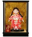 【雛人形】【ひな人形】【市松人形】6号 木目込チリメン衣装市松:京華作 ケース入り【木目込市松人形】【浮世人形】