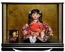 【市松人形】【雛人形】13号座市松【手彩色衣装】:公司作 ケース入り【ひな人形】【浮世人形】