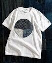 FDMTL・ファンダメンタル BORO PATCHWORK TEE サークルパッチワークTシャツ