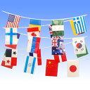 【万国旗】ビニール製万国旗(大)〜20ヶ国連続旗〜【領収書発...