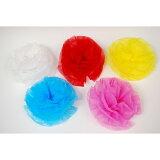 樽神輿の装飾や店舗ディスプレイに使用できます。【お祭り用品】紙折り花(京花・さくら紙) 10個1束 針金付き【領収書発行】