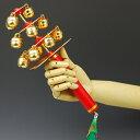 【お祭り用品】大人用三番叟鈴・幸運の鈴(五色リボン付き)【領収書発行】