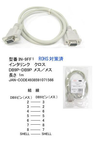 インターリンク クロスケーブルDB9P(メス) ...の商品画像
