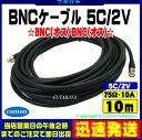 (宅配便のみ対応)BNCケーブル10m 5C2VCOMON(カモン) 5B-100【BNCオス-BNCオス】【5C/2V:75Ω