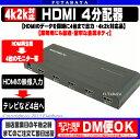 HDMIスプリッタ 4台タイプGREEN-HOUSE GH-HSPC4-BK●HDMI分配器●1入力 4出力●4K2K対応●PS4/XBox One/Wii U/Chromecast対応●金属ボディ