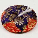 リン布団 金蘭 紫×赤 2号 巾約9cm×高約3.5cm