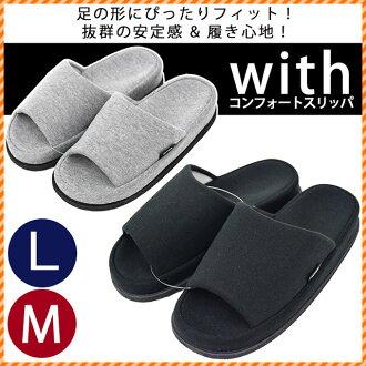 與鞋跟 5 釐米拖鞋 M L 鞋跟拖鞋拖鞋房間舒適拖鞋黑灰色 M L 一年級畢業典禮