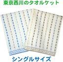 【TOKYO NISHIKAWA】西川産業  ジャガード刺し子調  タオルケット シングルサイズ  140X190cm 【あす楽対応】 西川寝具