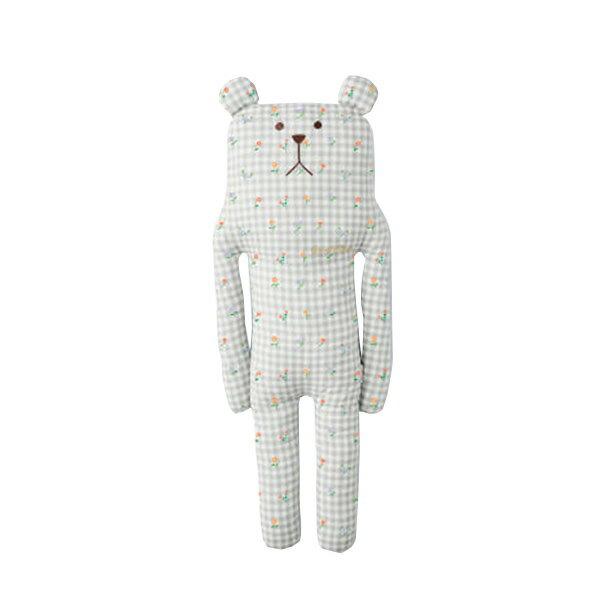 【CRAFT HOLIC】クラフトホリック 抱き枕L クッション SLOTH(スロース)クマ グッドスリープ グレーチェック だきまくら 抱枕 ぬいぐるみ 抱きぐるみ
