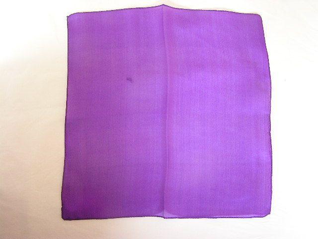 【マジック用】30cmハンカチ☆紫色(シルク)!