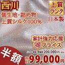 西川チェーン賞連続受賞 【西川・絹100%掛け布団・シングル・日本製】選りすぐりの品質。