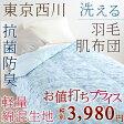 とってもお手頃!東京西川 夏用 羽毛布団 肌掛け布団 シングル ダウン50% 0.25kg 洗える 西川産業 羽毛肌布団 ウォッシャブル 西川寝具