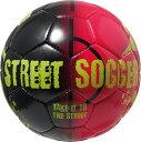 ダービースター サッカーボール Street Soccer 赤/黒 5号球