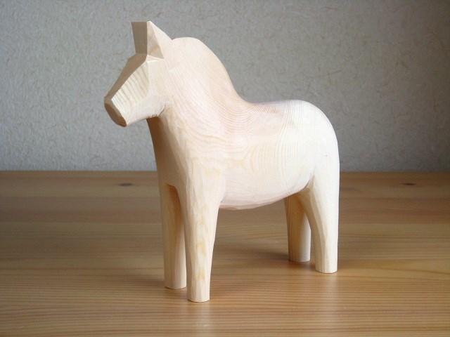 グラナス Grannas/ダーラナホース Dalahorse(17cm)/木製玩具|北欧雑貨|ナチュラルウッド|木製馬|ハンドメイド
