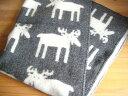 【送料無料】クリッパン Klippan/ムース Moose(ヘラジカ)/ウール ブランケット(ハーフ)/グレー北欧雑貨|北欧|出産祝い|テキスタイル|…