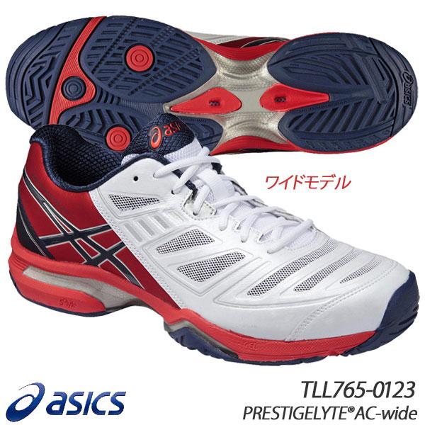 ◇プライスダウン アシックス プレステージライトAC ワイドモデル メンズ レディース テニスシューズ オールコート用 ユニセックス PRESTIGELYTE AC WIDE asics TLL765