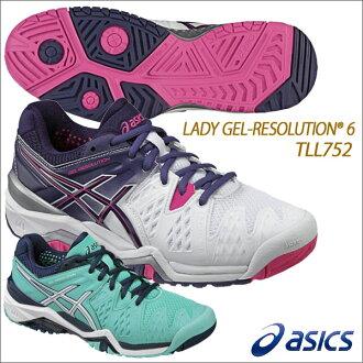★供16AW asics(亞瑟士)女士凝膠解決6女子的網球鞋全部大衣使用的TLL752