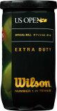 ○ウイルソン 硬式テニスボールUSオープン・エクストラ・デューティ(2コ入)WRT1000J