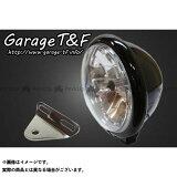 ガレージT&F 5.75インチベーツライト&ライトステー(タイプA)キット カラー:ブラック スラッシャー400