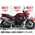 BEET JAPAN New NASSERT-R Slip-onマフラー サイレンサー:ブルーチタン