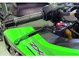 Dimotiv 可倒式スライドブレーキ・クラッチレバーSET ブラック&グリーン/Ninja650/400/ER-6