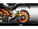 Dimotiv チェーンガードカバー KTM DUKE390/200/125 カラー:シルバー DUKE125 DUKE200 DUKE390